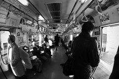 Morning Yamanote (Tui.M) Tags: bw white black japan train tokyo asia monochromatic  grayscale yamanote  vision:mountain=0649 vision:sky=057 vision:outdoor=0769