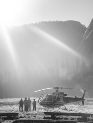 Yosemite Search and Rescue (shutterbug in me) Tags: california usa nature monochrome america chopper united helicopter yosemitenationalpark states viswaakshan