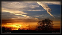 County Kerry (Explored 2014/03/10) (Neil Tackaberry) Tags: county ireland sky irish silhouette rural evening march countryside contrail sundown dusk north atmosphere neil kerry co countykerry 2014 cokerry irishcountryside ruralireland neilt abigfave tackaberry northkerry neiltackaberry 10mar2014