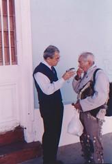 El sr. Julio Ponce de la comuna de Petorca, V Región, interpreta un repertorio de cuecas en armónica, mayo de 2005.