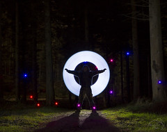Phil in the woods (StevieD70) Tags: longexposure light lightpainting bulb night canon painting aberdeenshire 2014 24105mm kirkhill stevied70