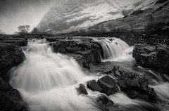 Clachaig Falls (Roksoff) Tags: autumn river scotland waterfall highlands nikon long exposure argyll cottage scottish calm na glencoe 24mm mor coe buachaille nam etive lochaber lochan d600 stob beith clachaig coire achtriochtan coupall hachlais