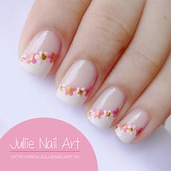Francesinal Diagonal + Flores (Jullie Nail Art) Tags: flowers flower art floral nail nailart unha decorada unhadecorada unhadodia jullienailart unhadofds