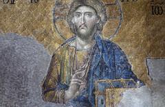 Christ, Deësis mosaic, Hagia Sophia