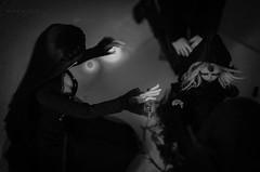 INITIATION (Mara Fox) Tags: black blackwhite witch magic horns demon ritual soom hybrid miho unicorn photostory arkose euna elfdoll heliot elfdolleuna supia61 migidollvampiremiho