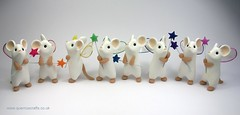 Little Fairy Mice (Quernus Crafts) Tags: cute star wings wand mice polymerclay quernuscrafts fairymouse fairymice