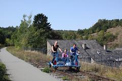 Railbike @ Sosoye L150 (Peter Van Gestel) Tags: viaduct 150 ligne viaduc lijn nmbs maredsous railbike sncb sosoye