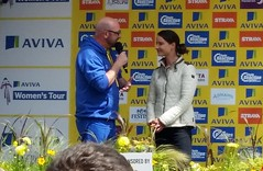 Marianne Vos (Fast an' Bulbous) Tags: bike race cyclist tour northamptonshire samsung womens podium galaxy winner jersey rider aviva s5 kettering 2015