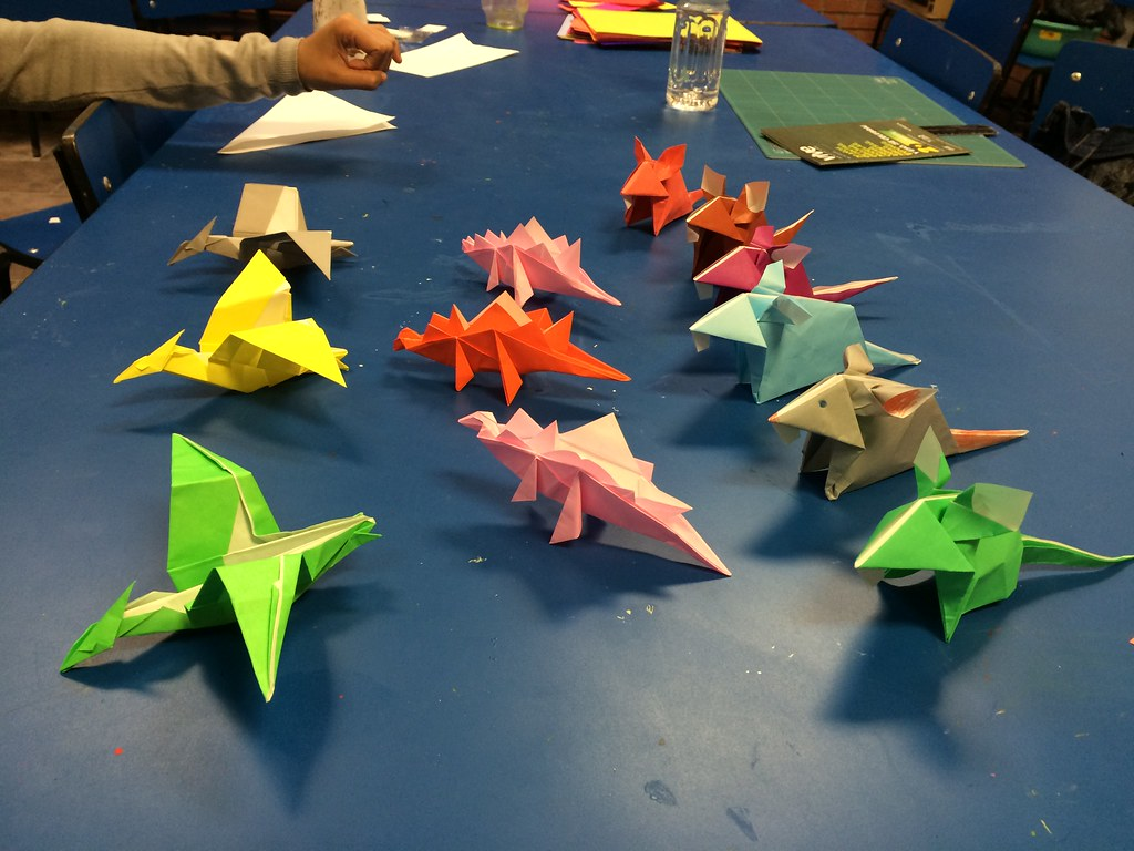 The Worlds Best Photos Of Origami And Pterodactyl Flickr Hive Mind Dinosaur Diagrams Today I Taught Two Montrolls Dinosaurs A Mouse Mehjg