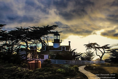 Pt Pinos Lighthouse Sunset (Jason.Chenoweth) Tags: lighthouse tree point pacific grove oil cypress pacificgrove pinos acres asilomar oilpaint pointpinos ptpinos
