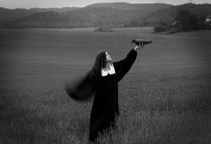 the messenger (Maren Klemp) Tags: longexposure blackandwhite painterly bird nature field fairytale vintage fly flying wings message meadow hills nostalgia nostalgic dreamy crow blackbird fineartphotography darkart blackandwhitephotography blackdress flyaway openfield evocative blackandwhiteportrait femalephotographer femaleart fairytalecharacter expressivephotography expressiveportrait fineartphotographer darkartphotography femaleartwork