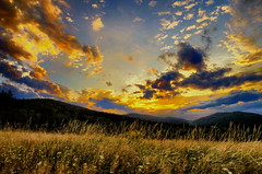 Blue hour begins (Zyla, K. alone) Tags: blue sunset summer sky color art nature clouds landscape afternoon herbs dusk pass meadows poland polska zachd lato beskidniski wysowa pentaxsmc thebp inexplore justpentax pentaxart salonpolski pentaxda154limited pentaxk30