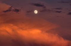 Moon Rise at Sunset (Dave Toussaint (www.photographersnature.com)) Tags: california ca travel sunset usa moon nature night photoshop canon landscape photo interestingness google interesting colorful photographer riverside cloudy dusk picture july fullmoon explore socal adobe getty southerncalifornia adjust infocus inlandempire 2015 riversidecounty cs6 denoise canyoncrest topazlabs photographersnaturecom davetoussaint 5dmarkiii sycamorehighlands