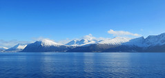 Blue and white (Mrs.Snowman) Tags: fjord ferry sun storfjorden sunnmøre norway westcoast