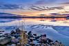 Drifting Away (Peter Vestin) Tags: nikondf sigma24mmf14dghsmart siruin3204x siruik30x adobecreativecloudphotography topazlabscompletecollection skutberget karlstad värmland sweden vänern nature landscape seascape sunset winter ice