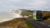 Southern Vectis 1587 climbs out of Freshwater Bay (martynwhittaker1987) Tags: 1587 hw63fhj dennistrident2 alexanderdennis enviro400 southernvectis nelsonroad newport goahead southcoast route12 brook brighstone shorwell picturesque westwight freshwaterbay beach holiday tourist tourism bus doubledeck scenic landscape