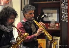 N2122871 (pierino sacchi) Tags: kammerspiel brunocerutti feliceclemente igorpoletti improvvisata jazz letture libreriacardano musica sassofono sax stranoduo