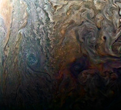 Dark Spot and Jovian 'Galaxy' (NASA's Marshall Space Flight Center) Tags: nasa nasas marshall space flight center solar system beyond jpl nasa's jet propulsion laboratory juno jupiter