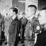 Da Nang 1966 - South Vietnamese Premier Nguyen Cao Ky (l) attends the installation ceremony of Maj. Gen. Huynh Van Cao thumbnail