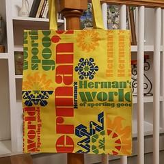 at TheYahdsale.com   Herman's World of Sporting Goods Canvas / Fabric Tote Bag  #defunctbrands #OutOfBusiness #HermansWorldOfSportingGoods  #totebag #bags #bag #tote #shopper #vintagebag #logos #outdoor #sports #Sporting (the_yahdsale) Tags: tote outdoor totebag outofbusiness defunctbrands logos shopper sporting bags vintagebag bag sports hermansworldofsportinggoods