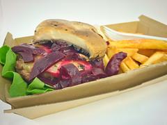 Paleo beef burger (garydlum) Tags: tomatosauce woden hotchips chips urbanbean lettuce aioli portobellomushrooms chipotleaioli beetroot beef canberra mushrooms tomato phillip australiancapitalterritory australia au