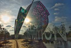 Through a glass darkly (alcowp) Tags: paris reflection architecture art frankgehry danielburen louisvuitton boisdeboulogne france