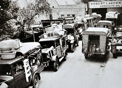 1930's Morning Rush...... (colinfpickett) Tags: people 1930s vans trucks van loading unloading daysgone