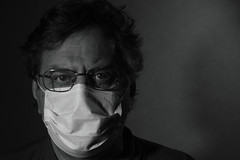 epidemic (Igor Golovnov) Tags: bw white man black male men against senior face closeup person glasses eyes looking mask seasonal medical health human doctor age medicine aged surgical protective middle eyeglasses adults protection healthcare virus flu influenza seniors protect caucasian surgeon occupation epidemic middleaged
