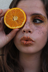 #42 orange (breatheint0me) Tags: portrait people orange face fruit eyes retrato creative rostro