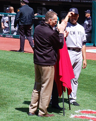 Indians Honor Yankees Closer (Will Bryan) Tags: clevelandindians newyorkyankees mlb pedromartinez majorleaguebaseball progressivefield