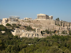 150 - Parthenon from Filipappas Hill (Scott Shetrone) Tags: forest other scenery events places athens parthenon greece monuments acropolis 5th anniversaries