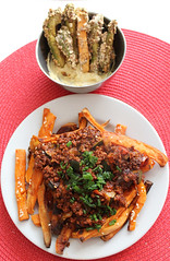 vegan yam chili fries almond crusted avocado (j_anxious) Tags: vegan plantbased