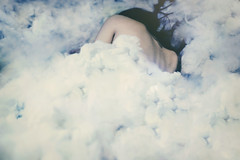 Dream, when you're feeling blue (FrangarNonFlectar) Tags: blue selfportrait detail girl clouds back fineart dream ethereal concept magical franksinatra conceptualphotography