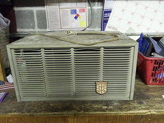 Fedders 4000 BTU 110 Volt Back Before Restoration (The Air Conditioner Guy) Tags: old vintage air airconditioner older ac conditioner unit fedders flickrandroidapp:filter=none