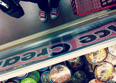 064 march 05, 2013 (mrbosslady) Tags: red feet shoes converse icecream traderjoes whereistand