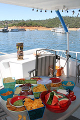 lake_oroville_june13 (13) (KrystianaBrzuza) Tags: summer vacation food lake fruit paradise treats houseboat deck host boating tropical snacks grub hosting pontoon dips bitesize oroville onthewater lakeoroville