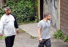 In the Alley (knightbefore_99) Tags: street look vancouver cool alley steel pizzeria dudes tough eastvan razor neapolitan rocawear viatevere
