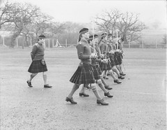 Capt AJM Durcan and RSM Joe Kerr Drill the Subalterns in preperation for Annual inspection, Saighton Camp Chester 1979. (tormentor4555) Tags: gordon highlanders
