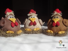 Mbile Galinhas Gorduchinhas (Fuzarte Ateli - Rachel Justo) Tags: galinha patchwork cozinha mbiles