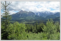 postcard from The Tatra ;) (green_lover (your COMMENTS are welcome!)) Tags: beliansketatras tatra tatry mountains głodówka poland landscape view trees green frame thechallengefactory clouds