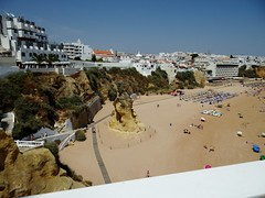 Fisherman's Beach (Snowdrop500) Tags: ocean sea summer holiday beach portugal water sand europe atlantic algarve atlanticocean sunbathing albufeira parasols sunlounger
