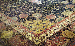 Ardabil Carpet, corner detail