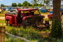 Junkyard_02 (Barrett Farmer) Tags: old cars abandoned junk rust colorado unitedstates forgotten junkyard salvage