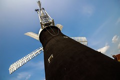 Holgate Windmill, July 2013 (2) (nican45) Tags: york sky slr mill windmill weather canon yorkshire sails sigma wideangle chain cap sail dslr 1020mm 1020 holgate fantail 600d hwps 1020mmf456exdc holgatewindmill eos600d