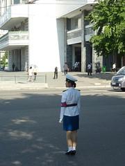 Pyongyang Traffic Girl (gavsherry+gen) Tags: kimjongil northkorea pyongyang dprk juche kimilsung pyongyangtrafficgirl