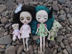 Faraday and Tamarlayne at Iona's beach