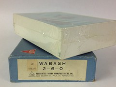 VARIOUS HO BRASS - Some unique and odd locomotives and equipment - AHM Import - Wabash F-4 Mogul 2-6-0 - Only 65 imported to the USA - Made in 1965. This model is still sealed in it's original plastic wrap within the box. Never opened. (bslook1213) Tags: japanese yahoo google ho bing googleimages modelrailroading steamlocomotives flickriver hon3