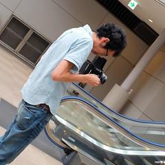 Diagonal (Crop) (chupacabra runner) Tags: airport provia traveler tokyonaritaairport fujifilmx100s chupacabrarunner