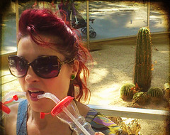 She that has satisfied her thirst turns her back on the well. (Zpanish-Zcorpio) Tags: barcelona cactus spain drinking normal conceptual thirst straws    sonyericssonlt18i hellobarna