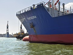 Theodora's Bow (AntyDiluvian) Tags: trip vacation holiday june gteborg harbor canal tour sweden harbour gothenburg swedish bow sverige scandinavia bitumen tanker canalboat theodora paddan 2013